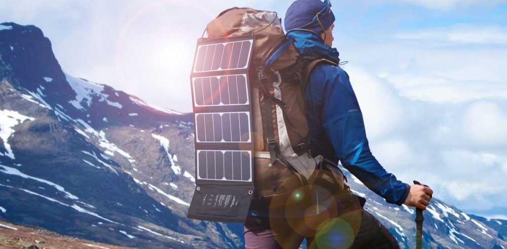 chargeur solaire sac à dos