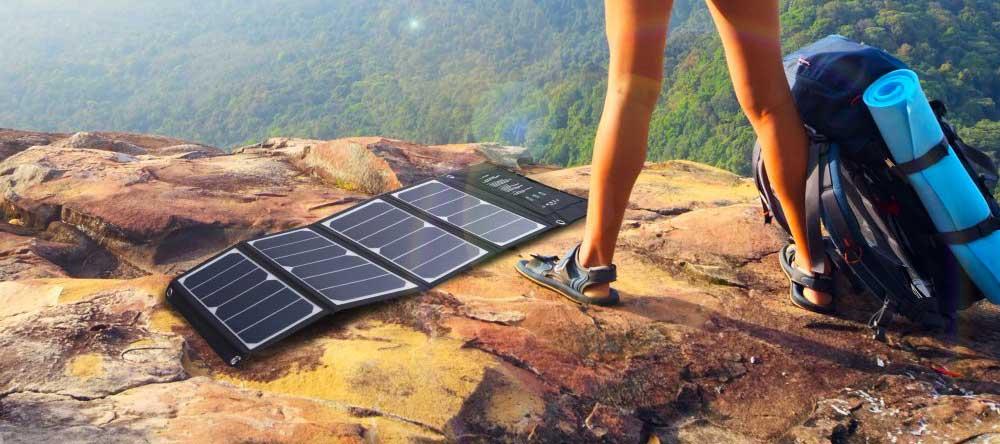 chargeur solaire déplié