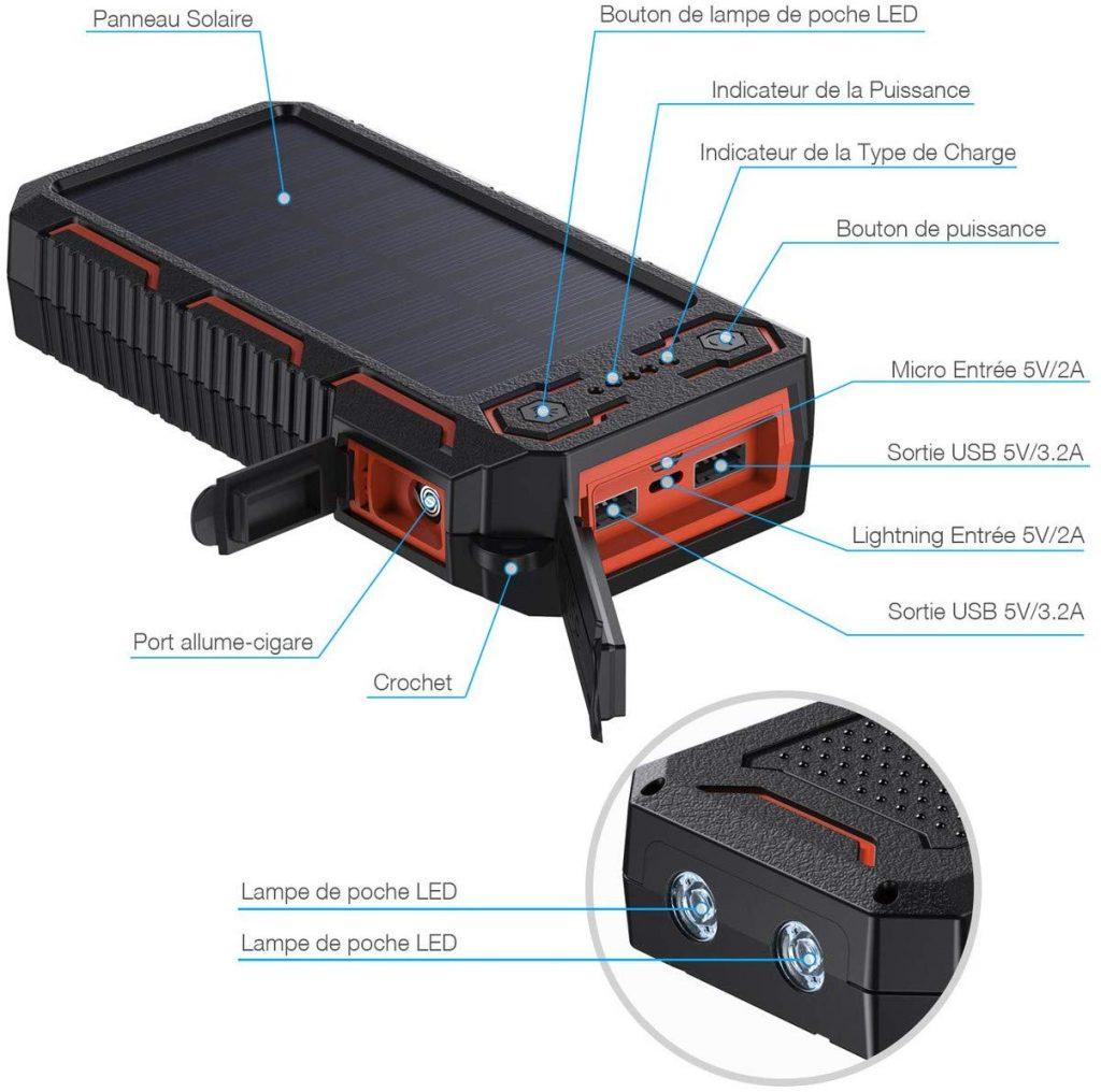 batterie externe puissante
